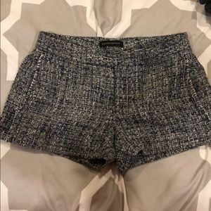 Tweed navy & white shorts